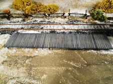 HO Roco Minitanks Parts Detailed Passenger Railway Platform Weathered #DP109