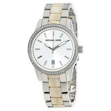 Michael Kors Silver Dial Steel and Acrylic Ladies Watch MK6371
