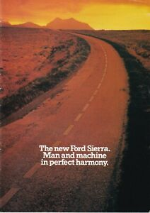 Ford Sierra Hatchback & Estate Brochure 1982-1983 Incl Std L GL & Ghia 32 Pages