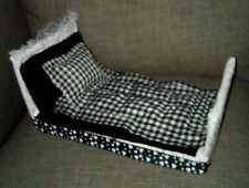 Barbie Doll Style Bed & Bed Set 'Rosie Style' / Fashion Doll Bed For 13'' Doll