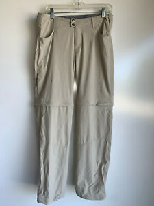 COLUMBIA Omni-Shield Women's Beige Nylon Convertible Zip Off Pants Size 12