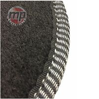 Black Carpet Car Mats Tailored to Perfectly for Fiat Punto Grande 06> + Fixings