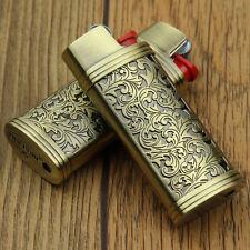 2PCS copper color floral pattern J5 mini BIC lighters case without lighters,DF7