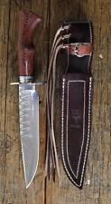"Bowie Hunting Knife New Spanish Muela. Cherokee by Renwa  ""ON SALE"" #16"