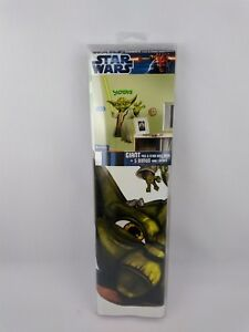 """Yoda Star Wars Clone Wars 37"""" Peel & Stick Wall Decals Removable New E6"""