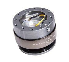 NRG Steering Wheel Quick Release Kit Gen 2.0 Gunmetal Body Titanium Chrome Ring