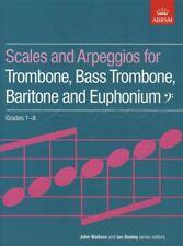 Scales and Arpeggios for Trombone Baritone Euphonium Bass Clef ABRSM Grades 1-8