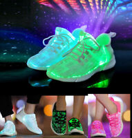 Unisex Trainers LED Luminous Light Up Shoes Casual USB Charging Flashing Shoes