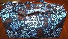 Vera Bradley Large Travel Duffel Bag Java Floral Pattern