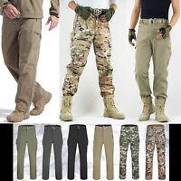 Men Tactical Combat Hiking Camping Waterproof Camo Pants Outdoor SWAT Trousers