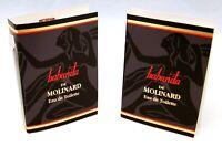 HABANITA de Molinard Eau de Toilette 5 Sample Vials x .03 oz each NEW w/Card VTG