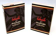 Habanita de Molinard Eau Toilette 5 Muestras X .89ml Cada Nuevo con / Tarjeta