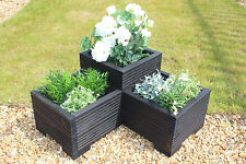 Corner Wooden Garden Trough Planter Veg Bed Flower Plant Pots In Decking Boards