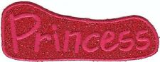"4"" Embroidery Iron on Red Princess Patch"