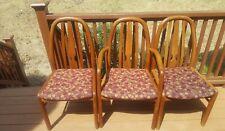 3 Uldum Mobelfabrik Teak Mid Century Danish Modern Dining Chairs 2 Side/ 1 End