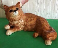 BESWICK PERSIAN CAT LYING GINGER GLOSS MODEL  No 1876 LARGE SIZE  PERFECT