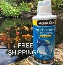 AquaOne Ammonia & Chlorine Remover/Water Conditioner 500ml + FREE SHIPPING