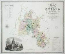 MAP OF THE COUNTY OF OXFORD : C&J GREENWOOD : 1831 - 1832