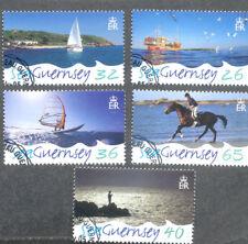 Guernsey-Sea Guernsey-Tourism-Horses--seacraft set fine used cto