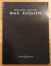 Britten War Requiem SATB vocal score sheet music Boosey & Hawkes edition
