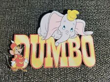 Disney inspired Dumbo title printed scrapbook page die cut