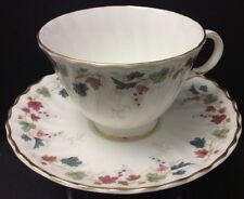 BEAUTIFUL ROYAL DOULTON CANTERBURY H4965 CUP & SAUCER SET(S)~GOLD~GRAPE LEAF