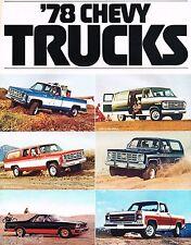 1978 Chevy Trucks Brochure:PickUp,VAN,SUBURBAN,BLAZER,El CAMINO,LUV,SPORTVAN,