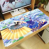 Anime KonoSuba Akua Aqua Large Mouse Pad Mat Gaming Play Mat PC Keyboard Pad