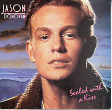 """JASON DONOVAN  Sealed With A Kiss PICTURE SLEEVE 45 7"""" record + juke box strip"""
