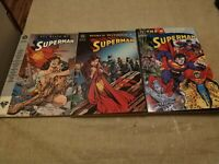 Death of Superman, World Without, & Return of Superman graphic novels 1993-1995