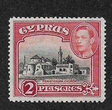Cyprus 1944,KG-VI, 2p ,perf 12 ½ x 13 ½  Scott # 147Bc,VF MNH**OG (SP-3)