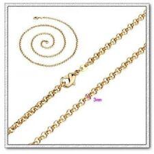 18k rose gold ep 22 inch belcher necklace 3mm ships from australia
