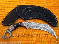Full-Tang Big Handmade Custom Damascus Karambit Knife (ARS-720)