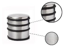 Door Stopper Heavy Duty Stainless Steel Round Solid Door Wedge Stop Rubber Base
