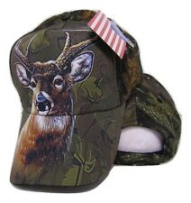 Redneck Camouflage Camo Single Deer Buck baseball style ball Hat Cap (RUF)