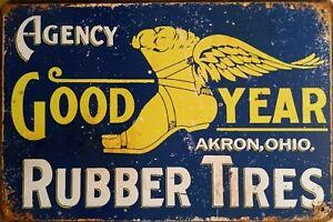 TYRES Rustic Metal Tin Sign. Plaque Vintage Garage, Cafe, Bar & Man Cave