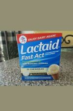 LACTAID Fast Act Chewables Vanilla Twist 32 Tablets. Exp. 10/20 Free Shipping.