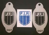 2 x stencil per rugby con scudo italiano per rugby Italia 6 nazioni