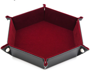 Table Folding Hexagon Tray For DND Dice Games Storage Board Holder Accessories