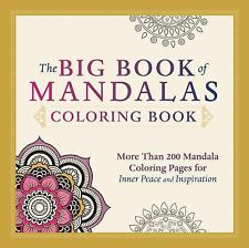 The Big Book of Mandalas Coloring Book by Adams Media Corporation Staff (2014, P