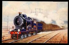 Railway GER Great Eastern Express Tuck Oilette #9161 early PPC loco 1854