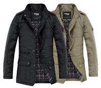 K1031 Men's Jacket Coat Slim Clothes Winter Warm Overcoat Casual Outerwear Warm