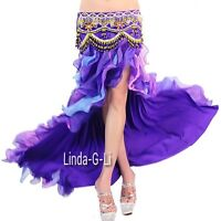 Professional  New Belly Dance Costume Waves skirt Shipping From Inside USA 1/2