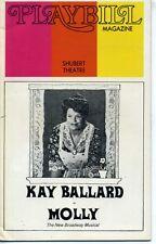 KAYE BALLARD MOLLY 1973 RARE ORIGINAL BROADWAY PLAYBILL