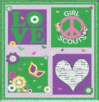 GIRL SCOUT PANEL Cotton Print by RILEY BLAKE BTY