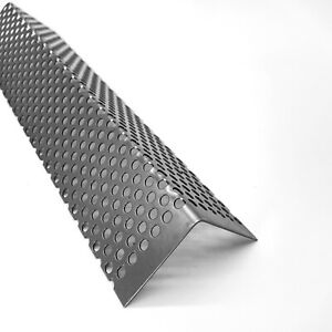Winkel Lochblech RV5-8 Edelstahl 1,0mm dick Edelstahl Blech L-Profil Kiesfang
