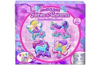 Fairies And Unicorns Plaster Cast Mould and Paint Make Your Own Fridge Magnets