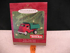 Hallmark Christmas Keepsake Ornament Die Cast Metal TONKA DUMP TRUCK 2000