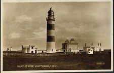 POINT OF AYRE LIGHTHOUSE, I. O. M.. OLD POSTCARD.