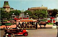 1960s Postcard Disneyland Magic Kingdom Town Square Band at Flagpole Anaheim CA